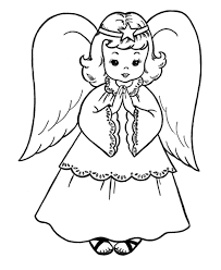 Christmas Angel Coloring Pages For Kids