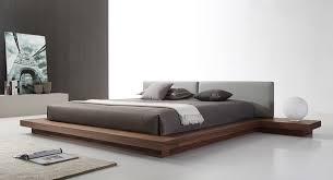 Modern bed Full Size Modrest Opal Modern Walnut Grey Platform Bed Modern Miami Furniture Store Modern Leather Bed And Mid Century Modern Platform Beds