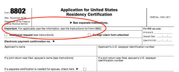 irs form 8802 application for united