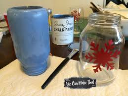 recycled jar tea light using chalk paint and cricut stencil