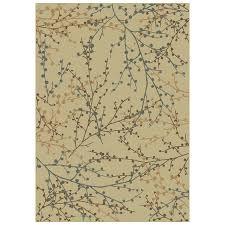 shaw living 7 10 x 10 10 beige berries area rug
