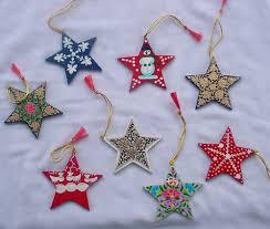 christmas ornaments papier mache hand