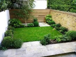 Small Picture small garden design ideas wooden fence brick wall shrubs small