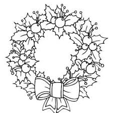 Light Of Candle Shine On Christmas Wreaths Coloring Pages Zb