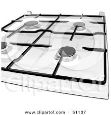 gas stove clipart black and white. royalty-free (rf) clipart illustration of a gas kitchen stove top by dero black and white