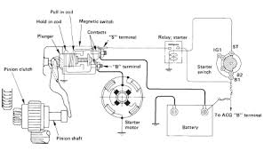 isuzu trooper starting system circuit and wiring diagram 98 02