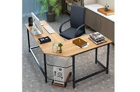 best home office desks. Tribesigns Modern L-Shaped Desk Corner Computer PC Latop Study Table Workstation Home Office Best Desks