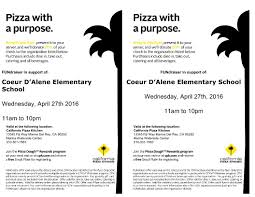California Pizza Kitchen Palm Beach Gardens News From The Friends Of Cda Coeur Dalene Avenue School
