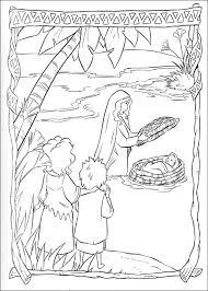 Kids N Fun Kleurplaat Prins Van Egypte Mozes In Het Biezen Mandje