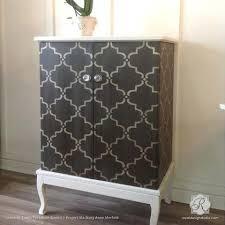 painting designs on furniture. Painting Wood Furniture With Moroccan Trellis Designs - Moorish Stencils Royal Design Studio On E