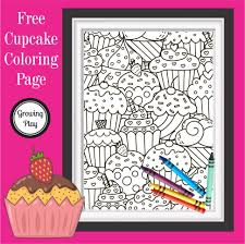 Explore 623989 free printable coloring pages for your kids and adults. Cute Cupcake Coloring Page Pdf Free Printable Growing Play