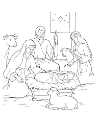 Small Picture Nativity Mary Joseph Jesus and the Shepherds