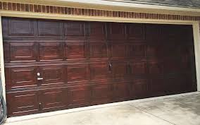brown mahogany garage door