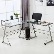 buy shape home office. Image Is Loading L-Shape-Corner-Computer-Desk-PC-Glass-Laptop- Buy Shape Home Office A
