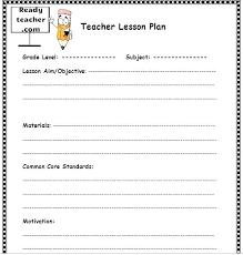 Free Printable Lesson Plan Template Lesson Plan Template Elementary Common Core Umbrello Co