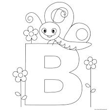 Printable Animal Alphabet Letter B ButterflyFree Printable ...