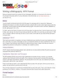 Writing A Bibliography Apa Format Citation 77 Views
