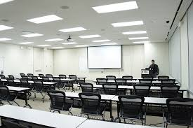 image of fluorescent light fixture classroom