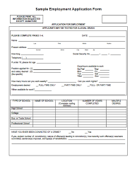 Job Application Form Download Free Toptier Business