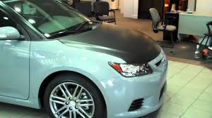 2011 Toyota Scion TC Matte Black partial vehicle wrap - YouTube