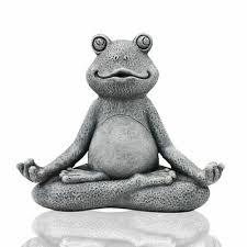 frog statue garden sculpture decor