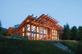Modern timber home photo