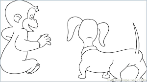 Free Curious George Coloring Pages Curious Coloring Admirable