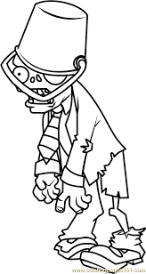 Small Picture Buckethead Zombie Coloring Page Free Plants vs Zombies Coloring