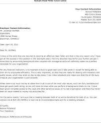 Cover Letter For Bank Position Bank Teller Cover Letter Examples