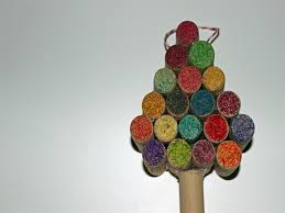 HOW TO Make Miniature Christmas Tree Decor Using Recycled Wine Christmas Crafts Recycled Materials