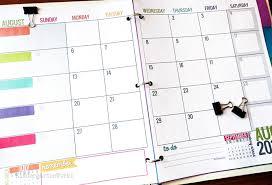 2019 Calendar Printable Template Printable 2018 2019 Calendar Template Kindergartenworks