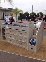 kids loft bed. Kids Alley Palm Desert Storage Loft Bed With Stairs In Weathered Stone  Bronze Pulls 4 Kids Loft Bed P