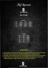 Errea Size Chart 3q Size Guide 3q Sports Teamwear Ltd