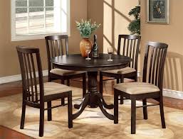 kitchen modern round kitchen table in espresso finish with 4 padded chairs round drop