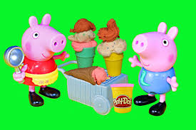 peppa pig play doh ice cream candy treats with george ice cream time and sweet pe play dough