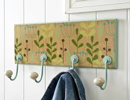 Painted Coat Rack Delectable Floral Wrapping Paper DIY Coat Rack Mod Podge Rocks