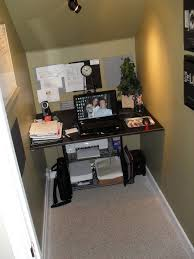 under stairs office. Closet Under Stairs Converted To Office Space :) Great Idea If You Have The Height In