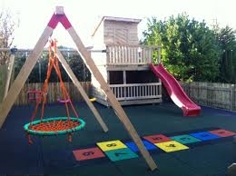 garden mats. Rubber Playground Mats For Safety Playing Space » In A Private Garden .
