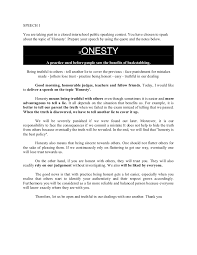 essay on the importance of being honest the importance of honesty and trust joey this i believe