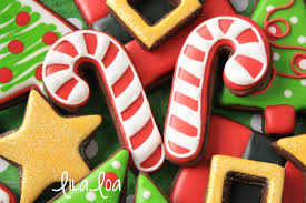 Candy Cane Decorated Cookies Decorated Candy Cane Cookies Cookies and Cards LilaLoa 2