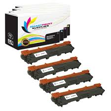4 Pack Brother TN225 <b>4 Colors Toner Cartridge</b> - Smart Print Supplies