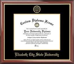 elizabeth city state university diploma frames certificate  details buy · college elizabeth city state university vikings embossed seal mahogany gold trim diploma