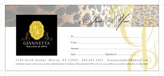 gift certificates giannetta salon spa with spa gift certificate