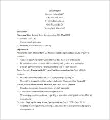 Free Golf Caddy Resume Sample