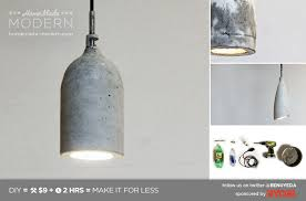 diy pendant lighting. Introduction: HomeMade Modern DIY Concrete Pendant Lamp Diy Lighting N