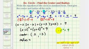 ex 3 write general equation of a circle in standard form coefficent not 1