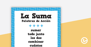 Action Words Chart With Pictures Mathematical Operations Action Words Spanish Version