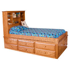 twin captains bed with drawers. Interesting Bed Amish 6 Drawer Captainu0027s Bed Intended Twin Captains With Drawers W