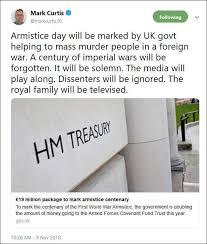 Mark Curtice on Armistice day : Labour