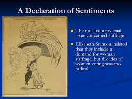 the american w suffrage movement ppt  a declaration of sentiments